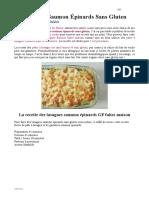 Lasagnes Saumon Épinards GF