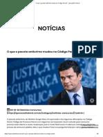MUDANÇAS DO CODIGO PENAL