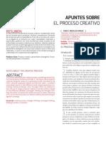 Clase 2 - Apuntes sobre el proceso creativo