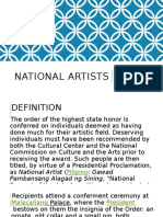 Contemporary Arts - National Artists