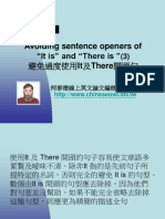 "[Conciseness]Avoiding Sentence Openers ""It is"" and ""There is"" (3)"
