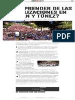 ¿Qué aprender de las movilizaciones en Irán y Túnez_