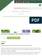 Graines d'Artemisia Annua Armoise Annuelle - Biologiquement.com