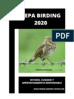 Plan de Trabajo Depa Birding 2020