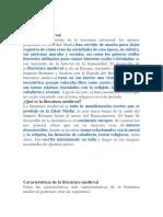 Grado 10 literatura medieval 22 enero 2020