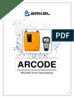 ARCODE Error Descriptions V20.en