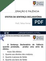 EFEITOS DA SENTENCA FALIMENTAR 2018 2