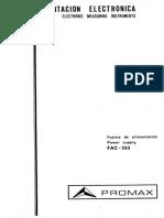 promax FAC-363_Manual
