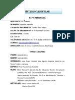 CURRICULUM DEL PROFESOR FLORENCIO A GIL L