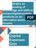 enhancing decorating products as an alternative source of income