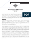 Masonry Design Method Choices