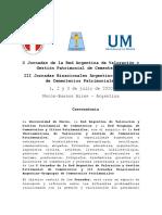 Circular 1 X Jornadas de la X Jornadas de la Red Argentina de Valoración y Gestión Patrimonial de Cementerios y III Jornadas Binacionales Argentino-Uruguayas de Cementerios Patrimoniales