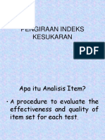 ITEM ANALYSIS & POST MORTEM EXAM