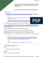 Procedimientos de Diagnóstico de Los Códigos de Mantenimiento de La Unidad de Control de La Transmisión