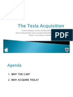 Tesla Motors' Acquisition By Apple
