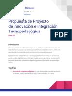 Propuesta de Proyecto de Innovación e Integración Tecnopedagógica - Alberto Grados Mitteenn