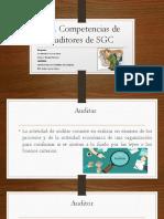 3.4. Competencias de auditores de SGC