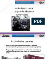7.5 Operación Arranque del Sistema Amphion
