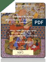 `poesía persa moderna recepción de lo clásico