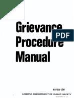 Arizona Department of Public Safety Grievance Procedure Manual