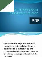 ALINEACIÓN ESTRATÉGICA DE RECURSOS HUMANOS