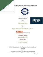 Job Satisfaction @ SHIRKE CONSTRUCTIONHR project.docx