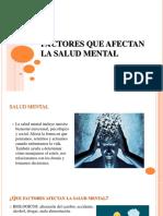Factores que afectan la salud mental