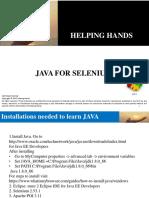 Java for Selenium