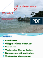 D. Philippine Clean Water Act - 071719