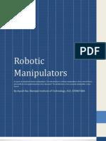 An Introduction to Robotic Manipulators