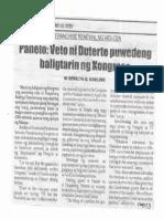 Balita, Feb. 13, 2020, Panelo Veto ni Duterte puwedeng baligtarin ng Kongreso.pdf