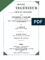 1872 - Manuel de l'ingénieur Ponts & Chaussées