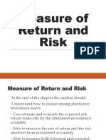 Chapter 2 - Measure of Return and Risk