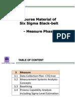 Black-belt Course- Measure Phase