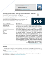 Performance evaluation of locally produced ceramic filters for household water treatment in Nigeria