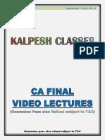 CA FINAL - Question Bank - Nov 2019 KALPESH CLASSES.pdf
