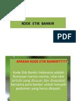 Kode Etik  bankir