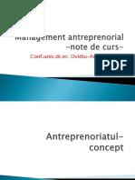 Management Antreprenorial