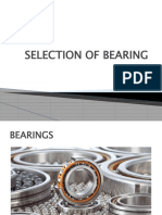 SELECTION OF BEARING Mahesh Thorat1