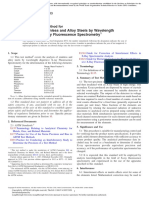 E572 - Standard Test Method for Analysis of Stainless and Alloy Steels by Wavelength Dispersive X-Ray Fluorescence Spectrometry