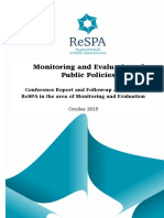 2015 Conference_Monitoring and Evaluation of Public Policies