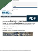 Capital pernambucana com forte presença lusitana  Local Diario de Pernambuco