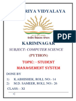 project file student management system