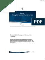 Module 1 -Safety Management Fundamental