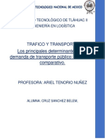 Los principales determinantes de la demanda de transporte público