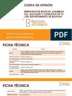 Encuesta - Imagen del gobernador, la Asamblea de Bolívar y los alcaldes y Concejos de 13 municipios