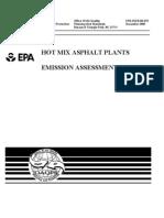 Hot Mix Asphalt Emission Assessment Report