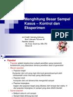Menghitung Besar Sampel Kasus Kontrol dan Eksperimen (1).pdf