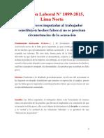 Casación Laboral N° 1099-2015, Lima Norte