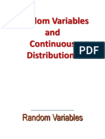 On Random Variables and Continuous Distributions